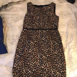 LOFT cheetah print dress